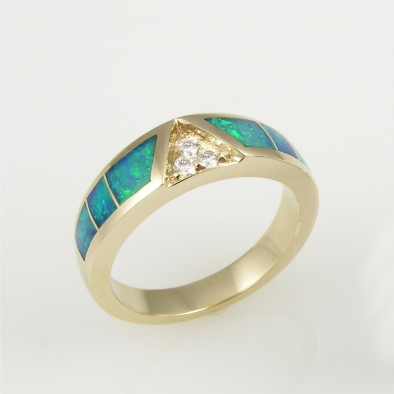 Colored Stone Ring by Mark Hileman