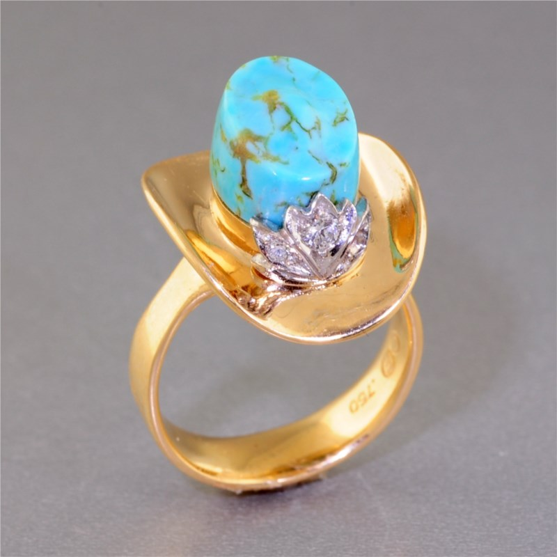 Colored Stone Ring by Don Bryant