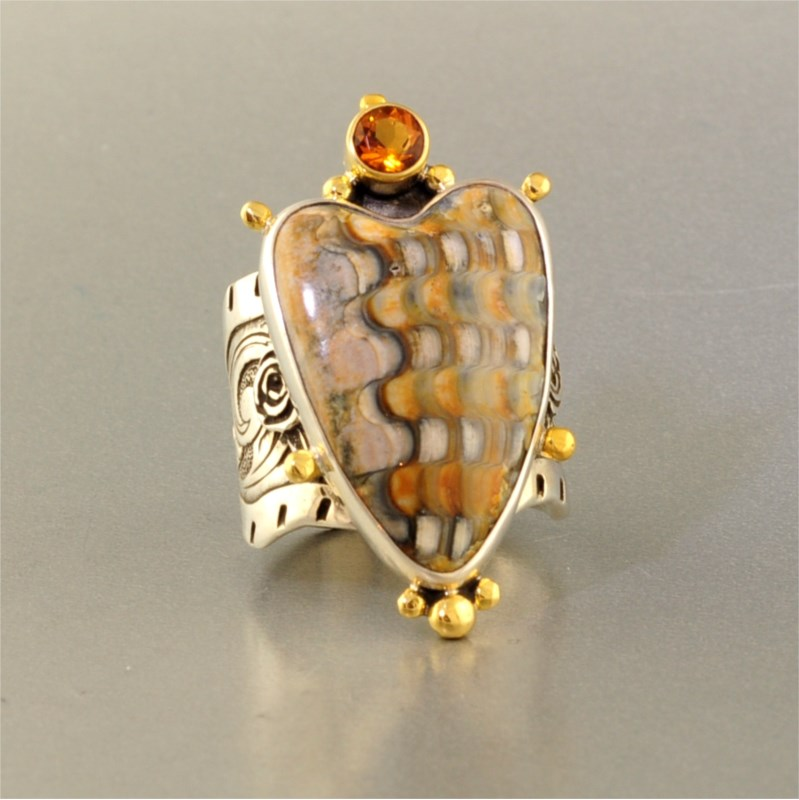 Colored Stone Ring by Kit Carson