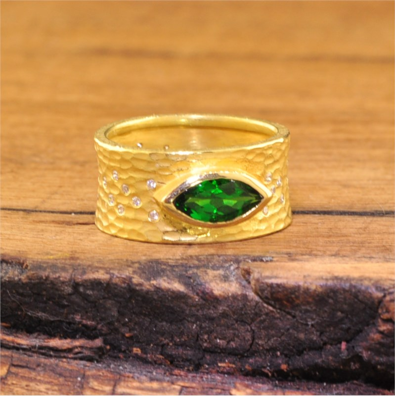 Colored Stone Ring by Barbara Heinrich