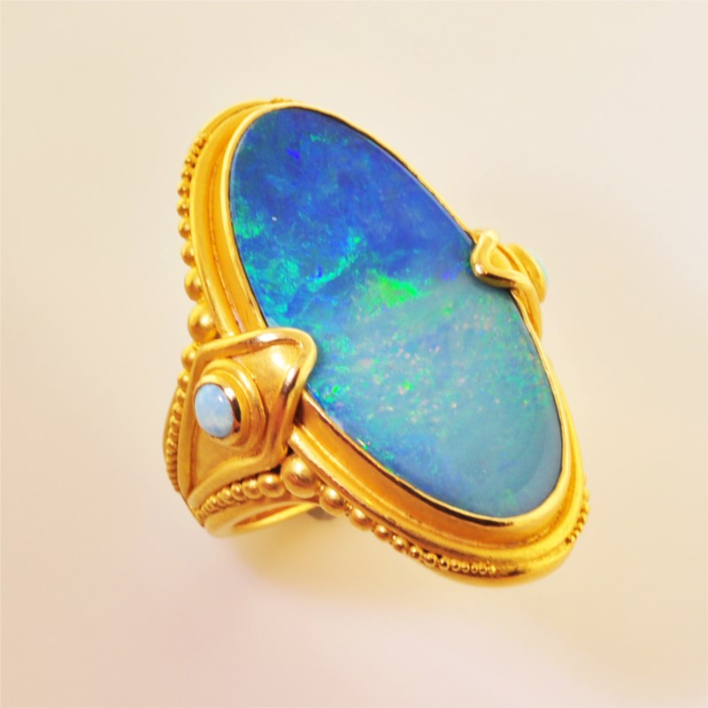 Colored Stone Ring by Carolyn Tyler