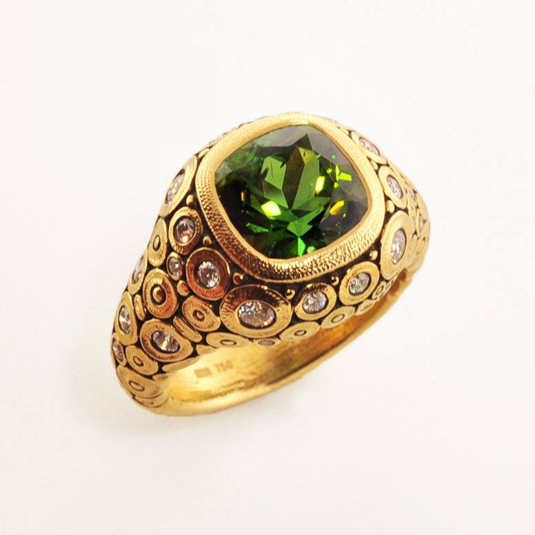 Colored Stone Ring by Alex Sepkus