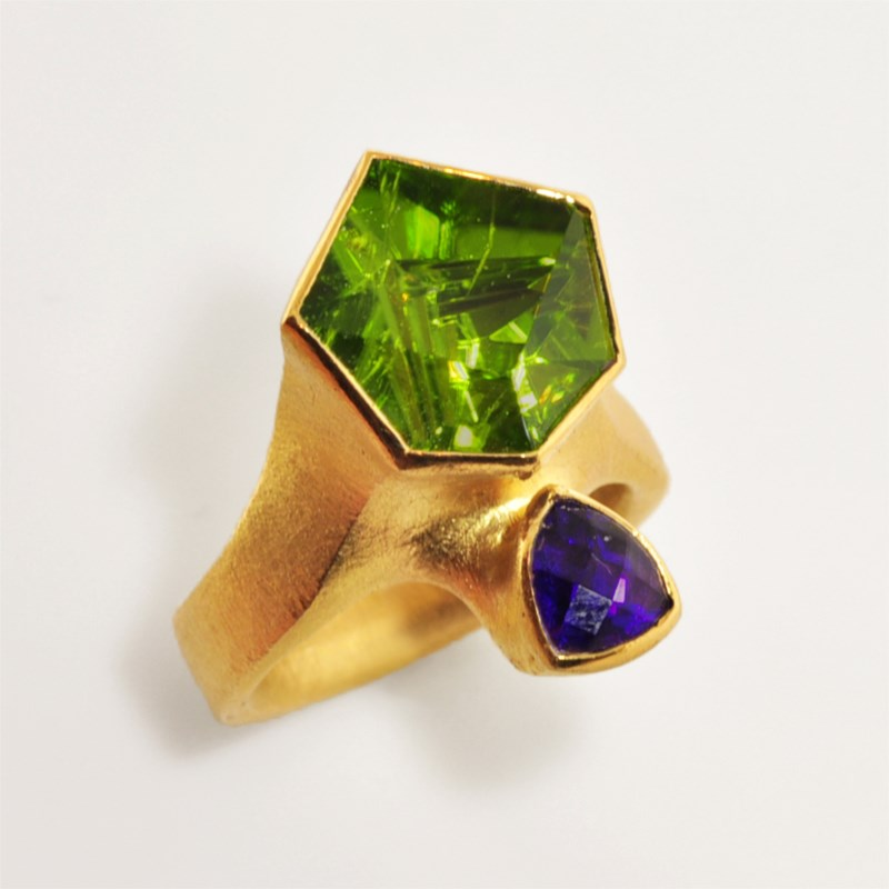 Colored Stone Ring by Atelier Zobel