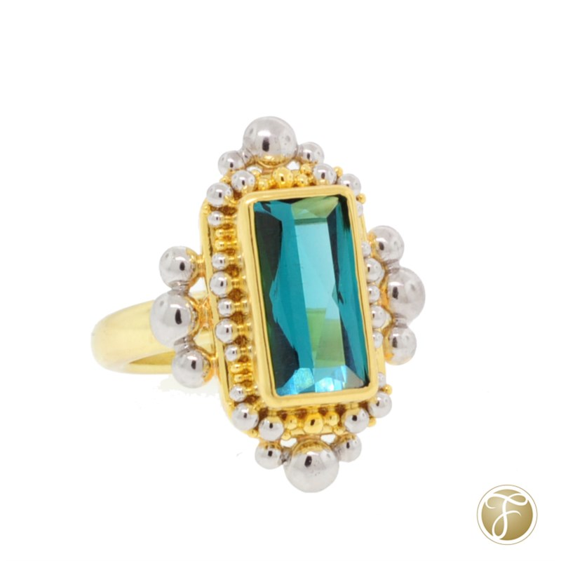 Colored Stone Ring by Zaffiro